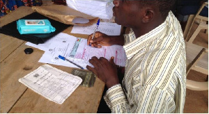 An ongoing voter's registration