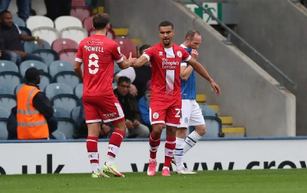 Kwesi Appiah scores 5th goal of the season for English League Two side Crawley against Scunthorpe