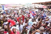 Nana Akufo-Addo was mobbed at Gomoa, Agona and the surrounding towns he visited in the Central regio