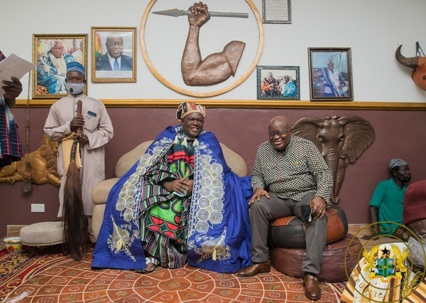 Kpembe Wura Babanye Ndefosu II and the President of Ghana, Nana Akufo Addo
