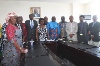 Madam Cecilia Dapaah (sixth from right) with the committee members
