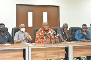 Henry Quartey sandwiched by other Greater Accra MPs