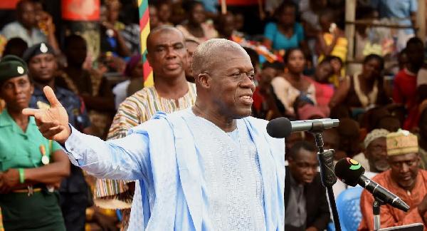 Vice President, Paa Kwasi Bekoe Amissah-Arthur at Ejura Yam  Festival