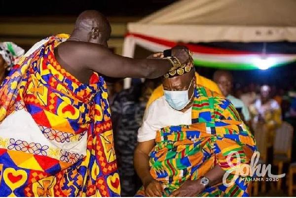 Return Mahama and NDC to power – Chief rallies his people as he crowns him Nkosuohene