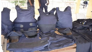 The body armour is to help secure the officers on patrol
