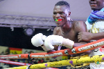 Richard Commey after his first fight at the Bukom Boxing Arena