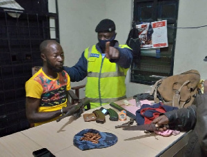 Martin Agyei was arrested for possessing an AK 47 assault rifle