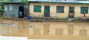 The state of Hajia Nafisah Abdulai's house after heavy down pour