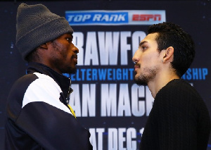 Richard Commey (left) will make his second title defence against Teofimo Lopez