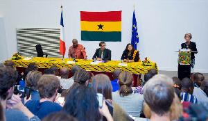 President John Dramani Mahama at the Bordeaux University