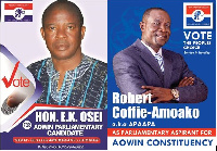 The two Custom officers are seeking to represent the people of the Aowin Constituency