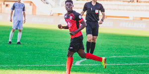 Francis Narh scored twice for his club side
