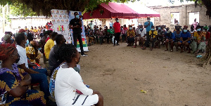 Participants at the at a town hall meeting