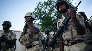 File photo of Cameroon military personnel