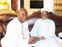 Alhaji Rashid Adam with the National Chief Imam, Dr. Sheikh Osman Nuhu Sharabutu