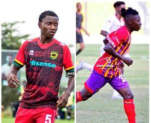 Salifu Ibrahim of Hearts of Oak and Ibrahim Moro of Asante Kotoko