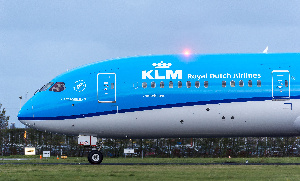 A KLM Dutch Airlines aircraft