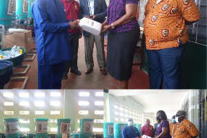 The Tema Senior High School Old Students Association made the donation to the school