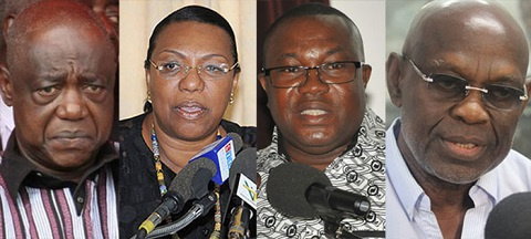 Members vying for the various national positions in the party