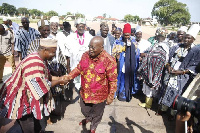 President Akufo-Addo exchanging pleasantries with some Wala Traditional Council at the Jubilee House