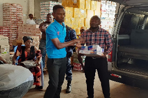 The products were confiscated from the Royal Love Enterprise in Okaishie
