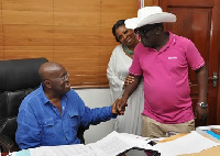 Akufo-Addo with Sir John in his house