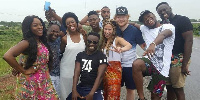 Ed Sheeran with Fuse ODG and some friends chilling in Ghana