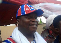 The NPP parliamentary candidate for Klottey Korle constituency on a campaign tour