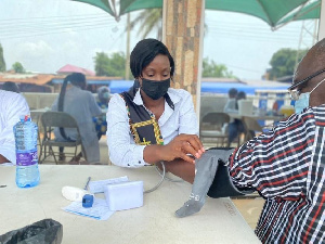 Health workers are seen as a crucial part of Ghana's health delivery system
