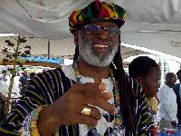 Rev. Palmer-Buckle dressed as Rastafarian