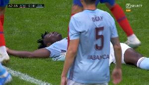 Joseph Aidoo was injured