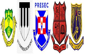 Crests of WeyGeyHey, Achimota, Presec, Mfantsipim and Opoku Ware