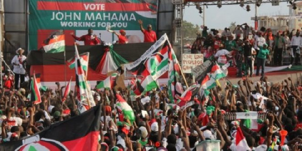 Mammoth of crowd at National Democratic Congress's campaign ground