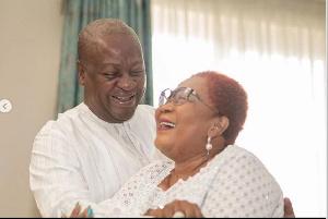 Former President of Ghana, John Dramani Mahama and his wife, Lordina Mahama
