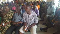 Residents thronged the Aboadze Community Centre for the Town Hall meeting