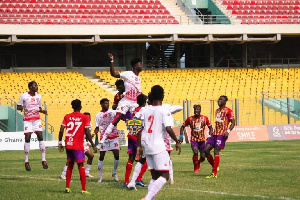 Accra Hearts of Oak scored WAFA 4-0
