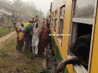 The challenge was resolved for the train to proceed safely back to Takoradi