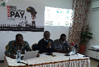 Some dignitaries at a press conference in Accra