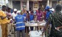 File photo of vote collation