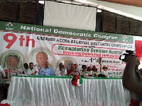 NDC holds its ninth Greater Accra regional delegates at the Central Cafeteria in UG