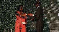 Aberantie recieving his award