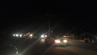 The Bolgatanga-Navrongo Highway as blackout consistently hits Upper East