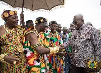 President Akufo-Addo with the Krachi Wura, Nana Mprah Besemuna III