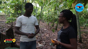 Caretaker of Tetteh Quarshie's farm narrating the story on People and Places