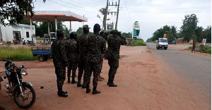 Government says the military have been deployed to ensure Ghana's borders are not infiltrated