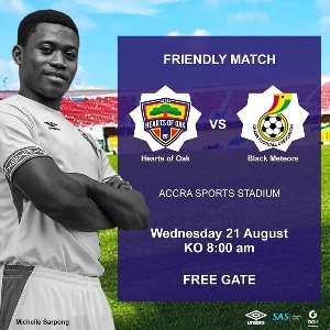 Hearts and Meteors will play on Wednesday