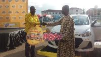 Bright Twumasi Ankrah won the first brand new Hyundai saloon car in the MTN Spin the Wheel promo