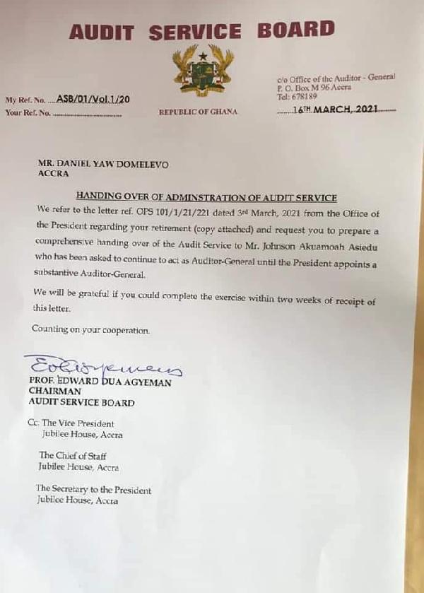 Your handover order preposterous – Domelevo to Dua Agyeman. 49