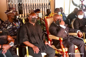 President Akufo-Addo and his Vice, Dr Mahamudu Bawumia at the funeral