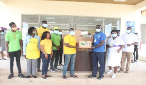 'The items was to refresh both the health workers as well as all patients at the facility'